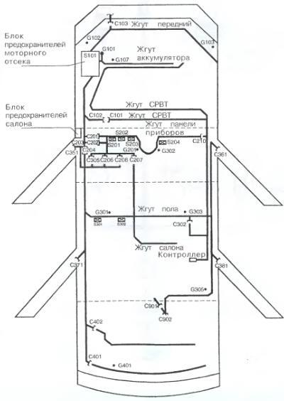 схема электропроводки daewoo
